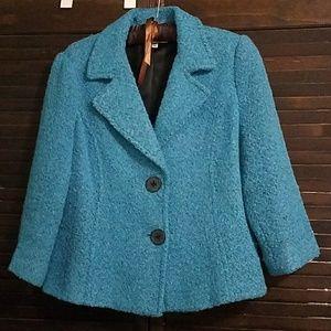 CAbi Wool Blend Boucle Blazer Size 8